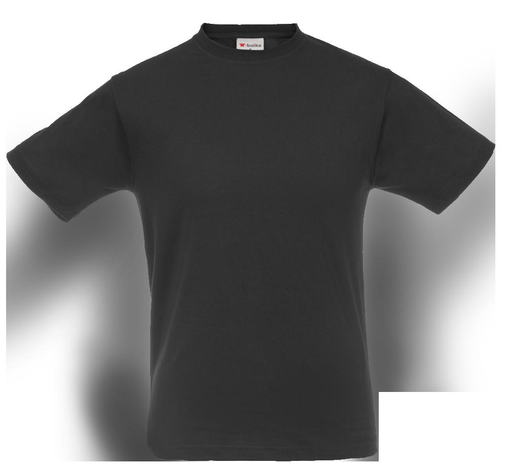 Черная футболка T-bolka для печати