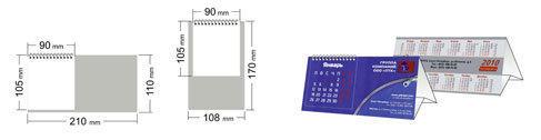 Размер перекидного календаря-домика