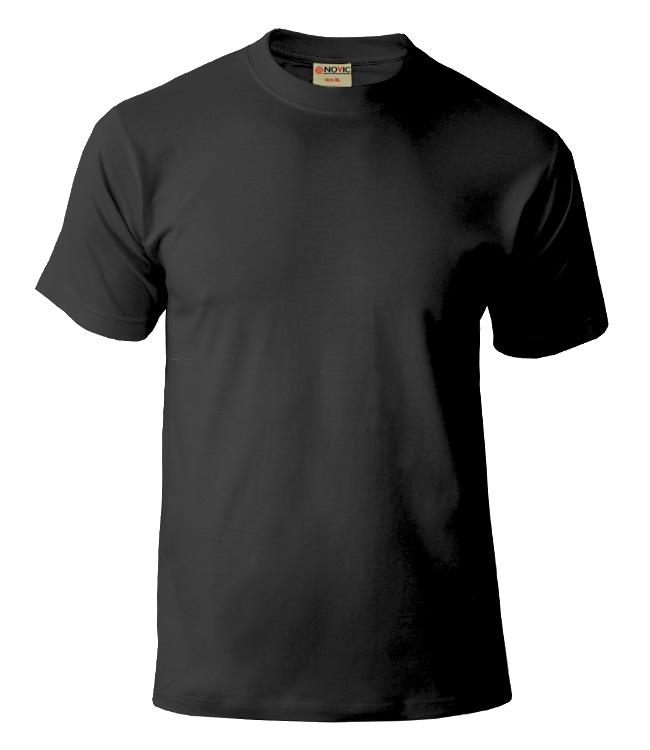 Черная футболка NOVIC для печати