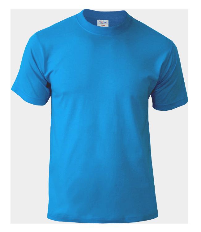 Футболка CORONA, цвет голубой