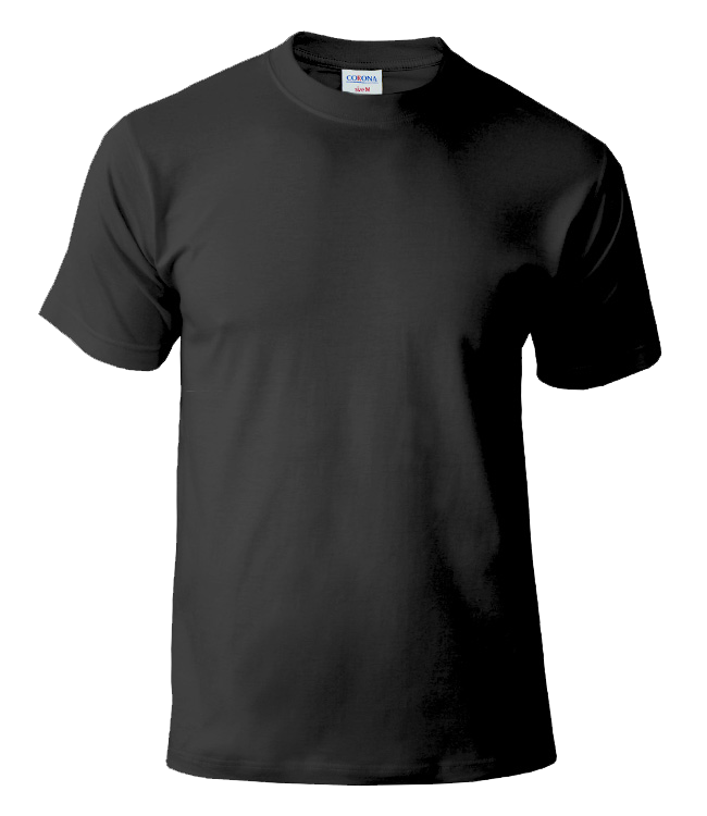 Черная футболка CORONA для печати