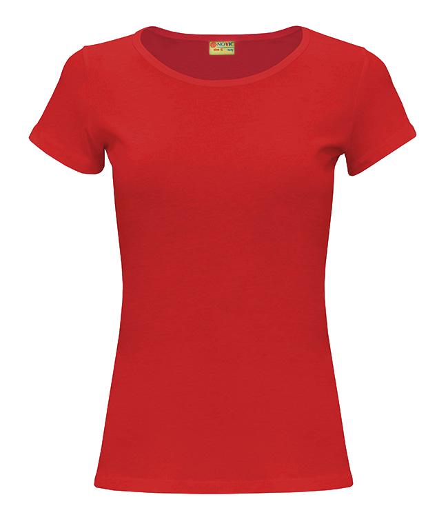 Футболка NOVIC женская, цвет красный