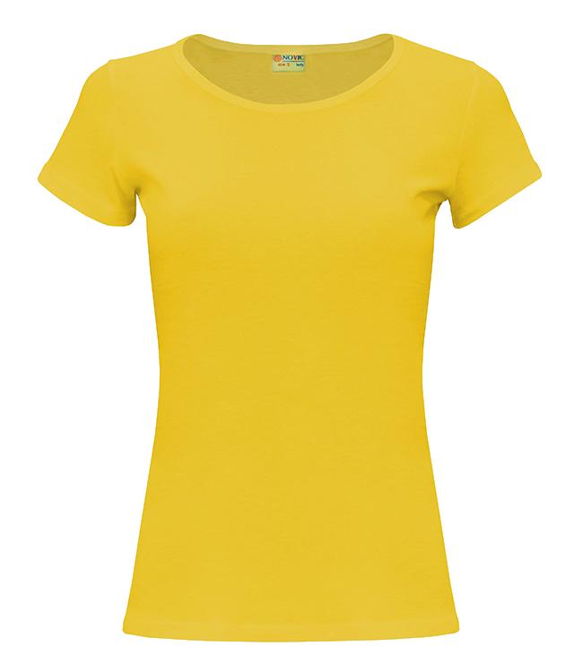 Футболка NOVIC женская, цвет желтый