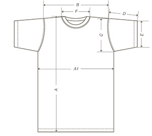 T-bolka размерная сетка