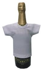 Мини-футболка на бутылку шампанского, белая