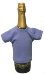 Мини-футболка на бутылку шампанского, голубой гиацинт