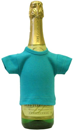 Мини-футболка на бутылку шампанского