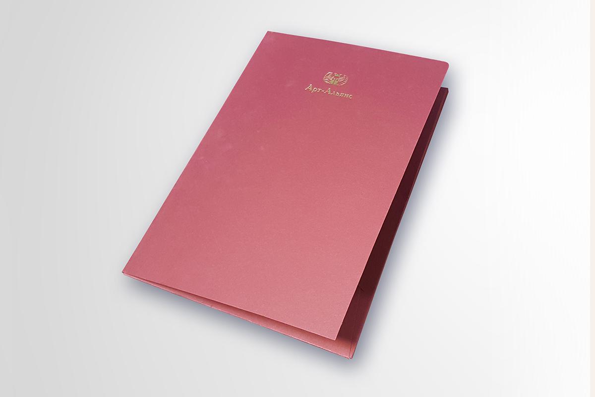 Папка, горячее тиснение золотом, дизайнерский картон