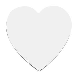 Коврик для мыши под печать в виде сердца