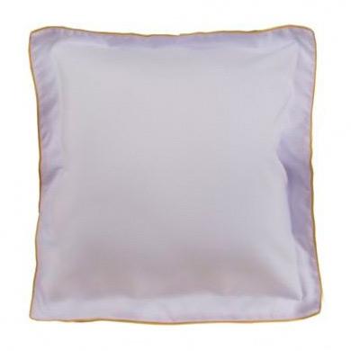 Подушка белая с цветным кантом