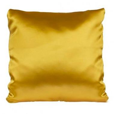 Подушка золото, атлас, 40×40 см.