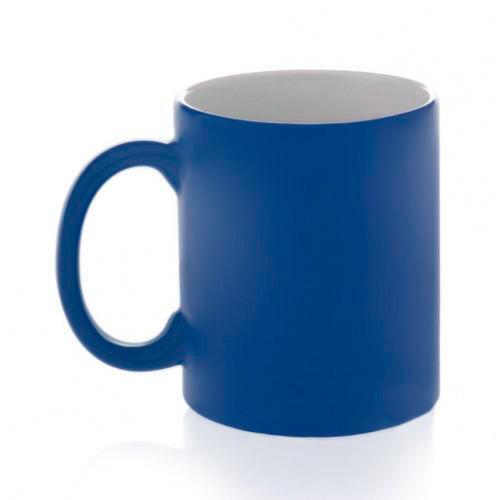 Кружка-хамелеон синяя матовая
