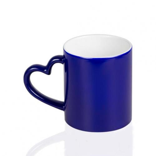 Кружка-хамелеон под печать, синяя