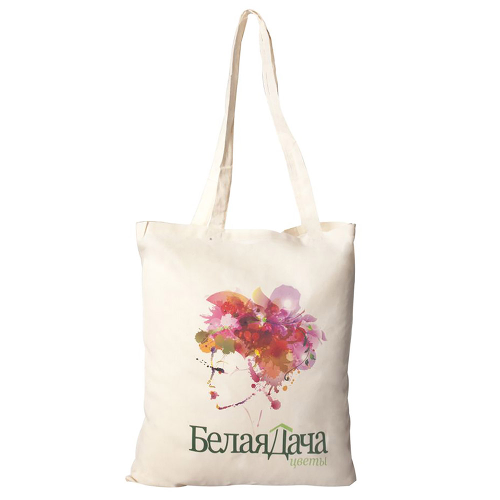 Хлопковая сумка с изображением и логотипом