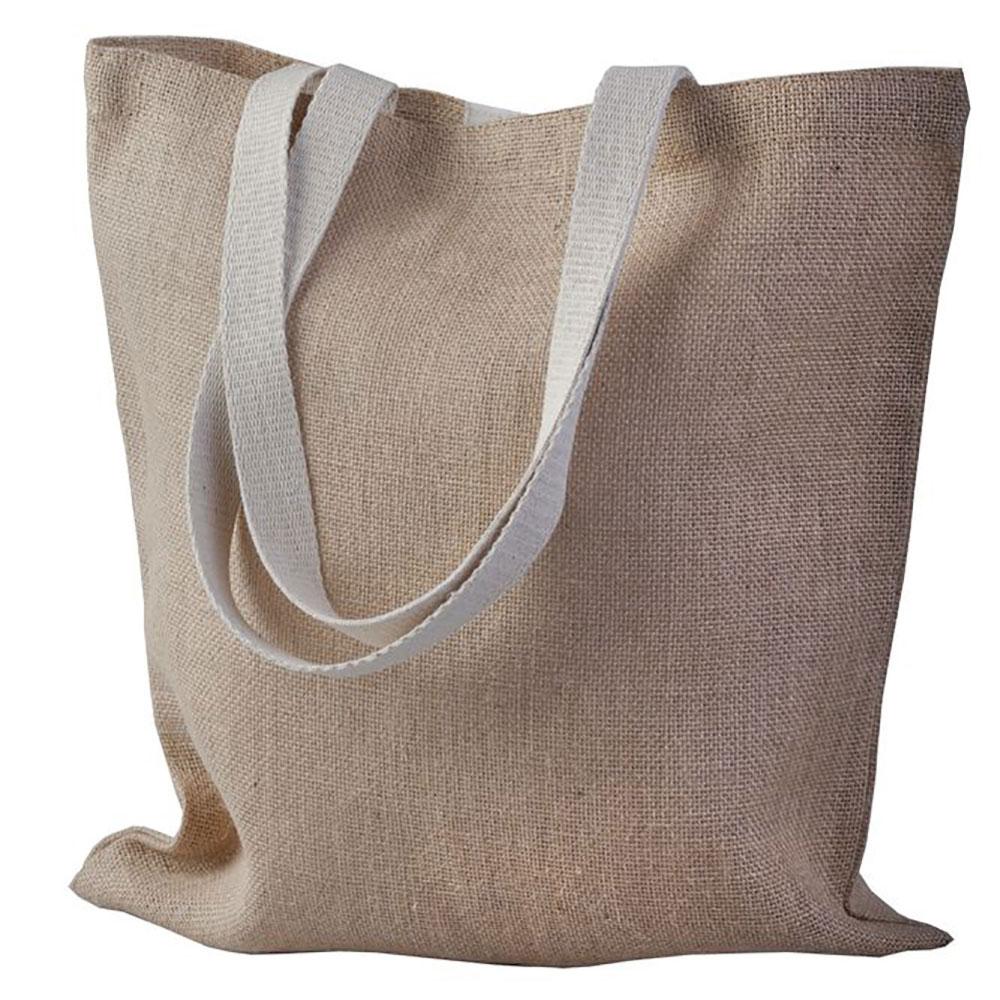 Джутовая сумка под печать логотипа