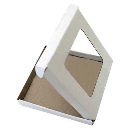 Подарочная коробка для тарелки с окном, белая