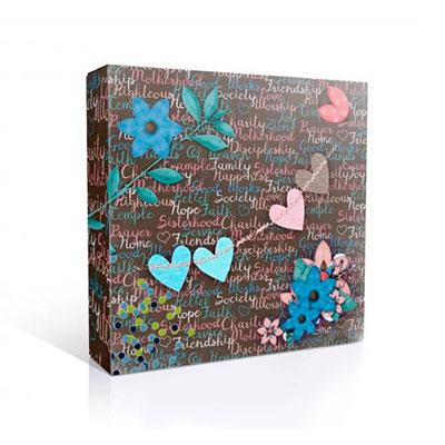 Подарочная коробка для тарелки, Романтика