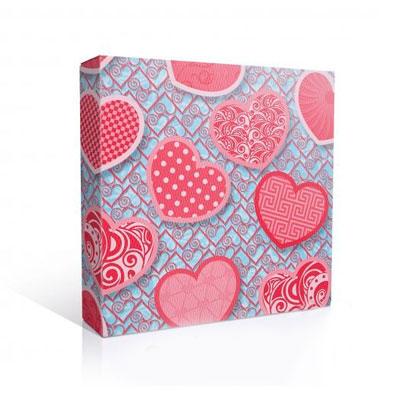 Подарочная коробка для тарелки, Сердечки