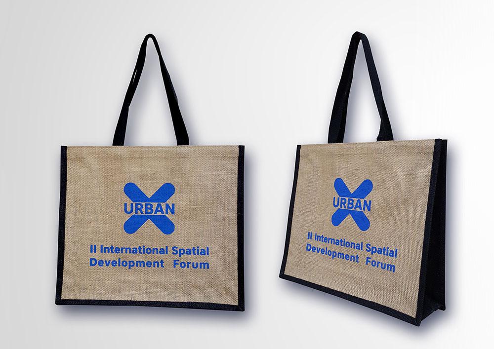 Джутовая сумка с логотипом