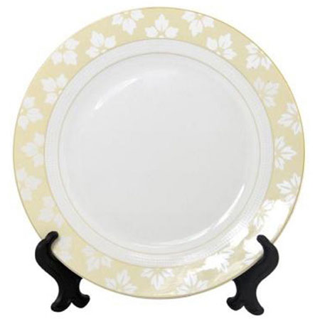 Тарелка под нанесение, фарфоровая с орнаментом, диаметр 20 см