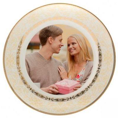 Печать фотографий на фарфоровой тарелке