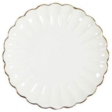 Тарелка под нанесение, фарфоровая волнистая, диаметр 21 см