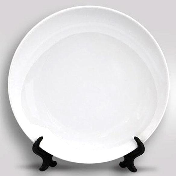 Тарелка белая фаянсовая 3D