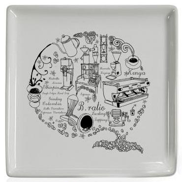Подарочная квадратная тарелка, керамика