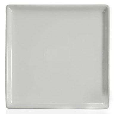 Тарелка под нанесение, керамика белая, квадрат