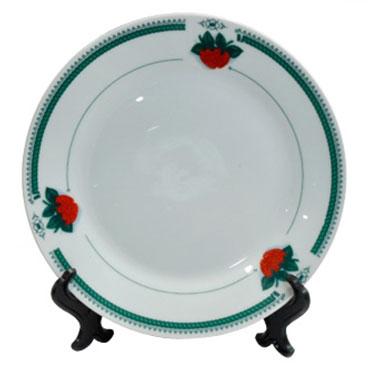 Тарелка под нанесение, с орнаментом клубника, диаметр 20 см