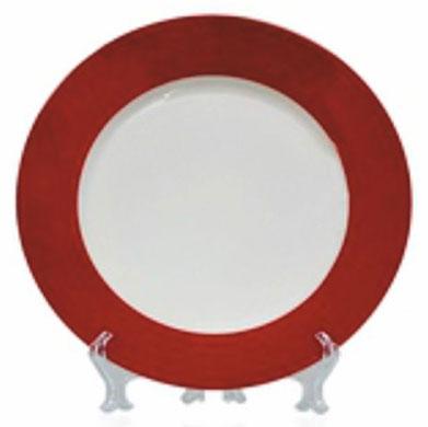 Тарелка под нанесение, белая с красной заливкой, диаметр 200 мм